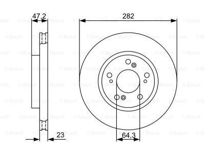 Prednji diskovi kočnica BS0986479365 - Honda CRV 02-06