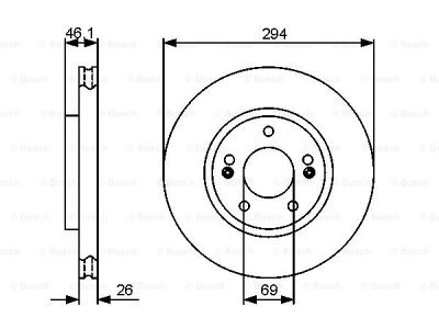Prednji diskovi kočnica BS0986479434 - Hyundai Santa Fe 01-06