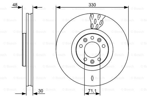 Prednji diskovi kočnica BS0986479529 - Citroen C5 01-08-