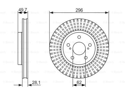 Prednji diskovi kočnica BS0986479633 - Lexus IS 05-13-