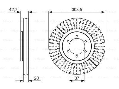 Prednji diskovi kočnica BS0986479694 - Hyundai Terracan 01-