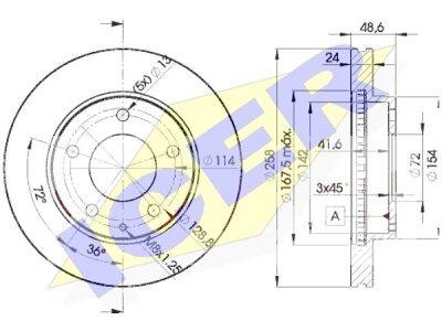 Prednji diskovi kočnica IEBD3258 - Mazda 626 88-02