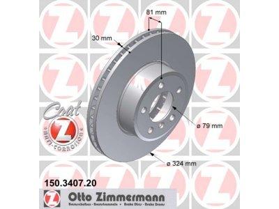 Prednji diskovi kočnica150.3407.20 - BMW Serije 7 01-08