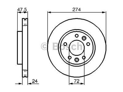 Prednji diskovi za kočnice BS0986479013 - Kia Carnival 99-01