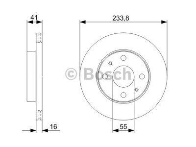 Prednji diskovi za kočnice BS0986479352 - Daihatsu YRV 00-06