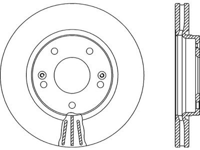Prednji diskovi za kočnice S71-0329 - Hyundai Trajet 00-08