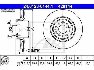 Prednji kočioni diskovi 24.0128-0144.1 - Volvo S60 00-10