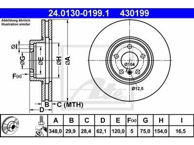 Prednji kočioni diskovi 24.0130-0199.1 - BMW
