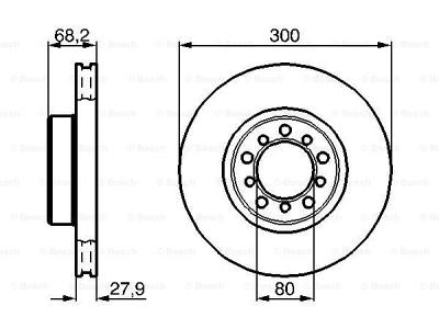 Prednji kočioni diskovi BS0986478197 - Mercedes-Benz Razred S 81-91