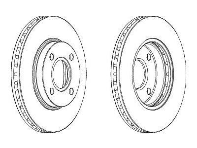 Prednji kočioni diskovi S71-0007S- Ford Mondeo 93-00