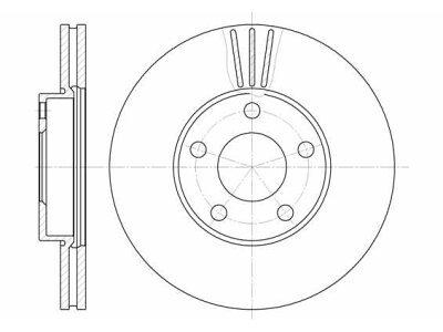 Prednji kočioni diskovi S71-0069 - VW