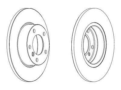Prednji kočioni diskovi S71-0070S- BMW Serije 3 (E36) 90-00
