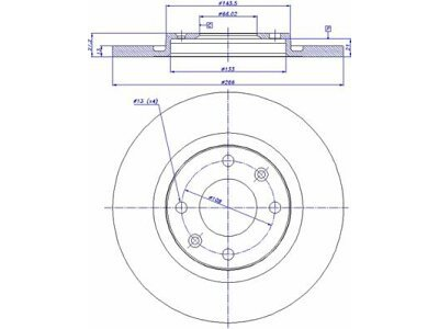 Prednji kočioni diskovi S71-0096 - Citroen