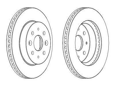 Prednji kočioni diskovi S71-0342 - Kia Rio 00-05