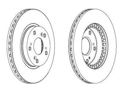 Prednji kočioni diskovi S71-0383 - Honda CRV 02-06