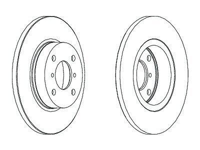 Prednji kočioni diskovi S71-0396 - Opel Agila 00-08