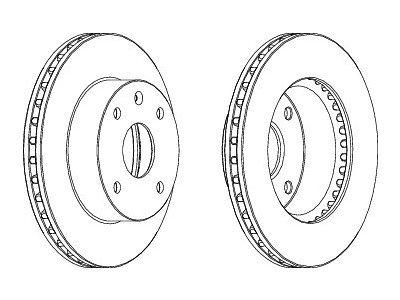 Prednji kočioni diskovi S71-0412 - Daewoo Lacetti 03-10