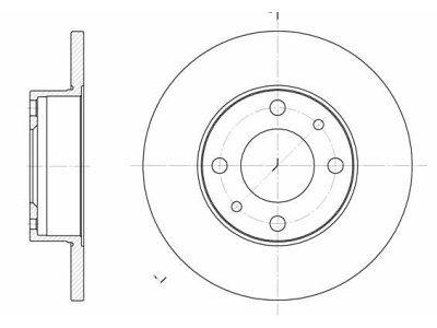 Prednji/Zadnji zavorni diski S71-2102 - Fiat