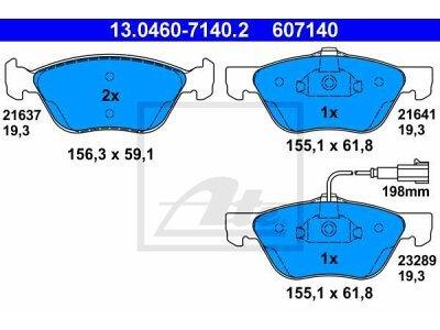 Prednji zavorne obloge 13.0460-7140.2 - Alfa Romeo 147 01-10