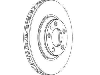 Prednji zavorni disk (levi) Audi Q7 05-15