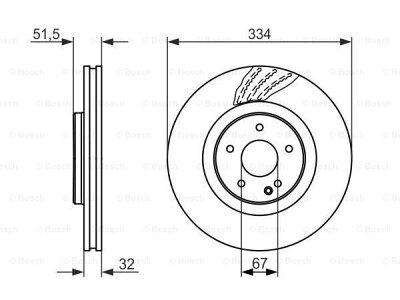 Prednji zavorni diski 0 986 479 650 - Mercedes-Benz Razred SL R129 98-01
