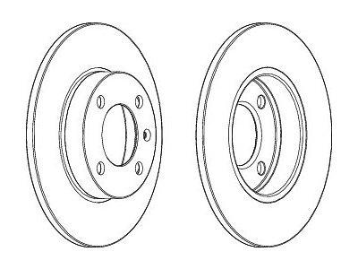 Prednji zavorni diski 0986478010  - Seat Cordoba 93-02
