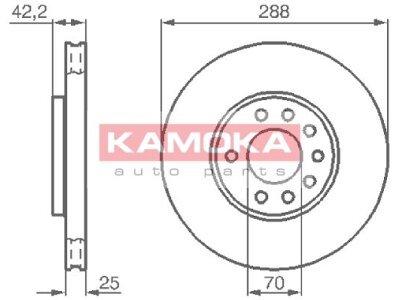 Prednji zavorni diski 1031620 - Opel Vectra B 95-03