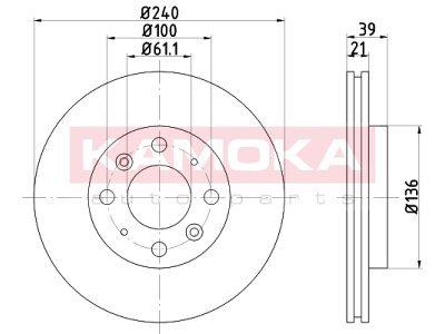 Prednji zavorni diski 103221 - Honda Jazz 01-08