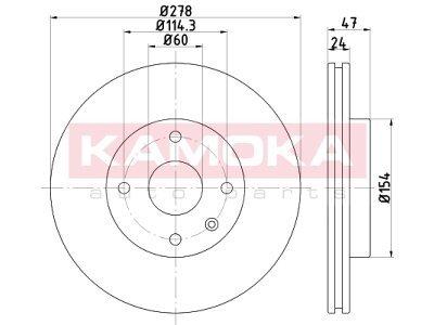 Prednji zavorni diski 103249 - Chevrolet Epica 05-11