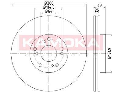 Prednji zavorni diski 103257 - Honda CRV 01-07