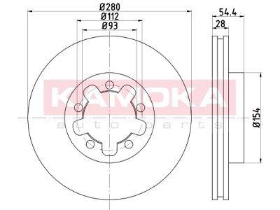 Prednji zavorni diski 103272 - Ford Transit 06-14