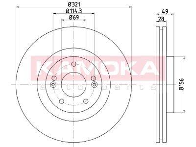 Prednji zavorni diski 103291 - Hyundai Santa Fe 06-