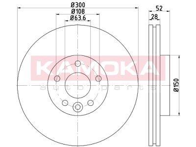 Prednji zavorni diski 103292 - Ford Mondeo 07-15