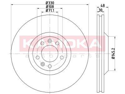 Prednji zavorni diski 103304 - Citroen C5 III 08-