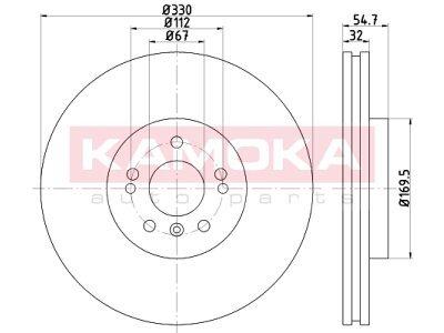 Prednji zavorni diski 103317 - Mercesez-Benz Razred M W164 05-11