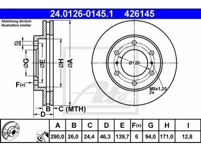 Prednji zavorni diski 24.0126-0145.1 - Mitsubishi Pajero 00-