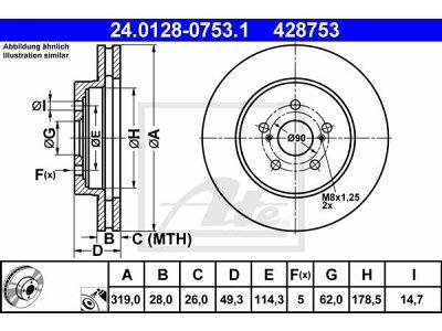 Prednji zavorni diski 24.0128-0753.1 - Lexus RX 03-09