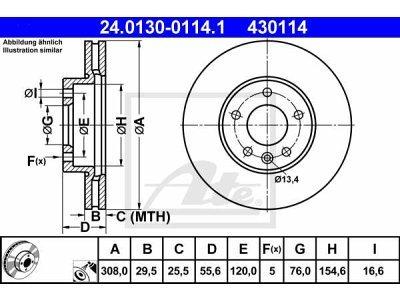 Prednji zavorni diski 24.0130-0114.1 - Volkswagen Transporter 03-