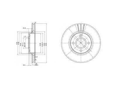 Prednji zavorni diski 264906 - Ford