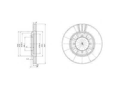 Prednji zavorni diski 31769 - Hyundai