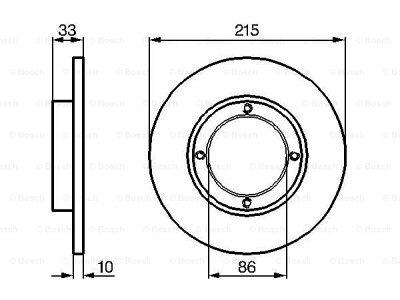Prednji zavorni diski BS0986478376 - Daewoo Tico 91-00