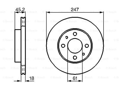 Prednji zavorni diski BS0986478459 - Nissan Almera 95-00