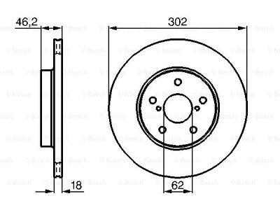Prednji zavorni diski BS0986478490 - Toyota Rav4 94-00