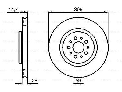 Prednji zavorni diski BS0986478711 - Alfa Romeo 147 00-10