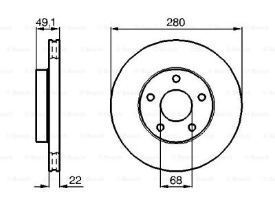 Prednji zavorni diski BS0986478833 - Nissan Maxima 87-00