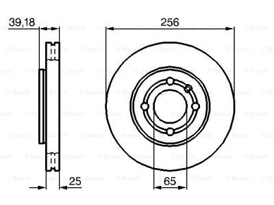 Prednji zavorni diski BS0986479054 - Volkswagen Lupo 98-05