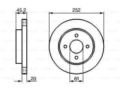 Prednji zavorni diski BS0986479238 - Nissan Almera 95-00