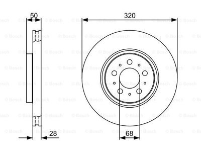 Prednji zavorni diski BS0986479321 - Volvo V70 00-07