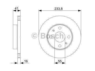 Prednji zavorni diski BS0986479352 - Daihatsu YRV 00-06