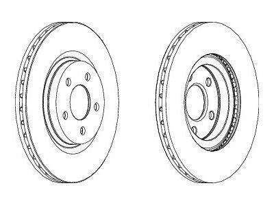 Prednji zavorni diski - Chrysler PT Cruiser 00-